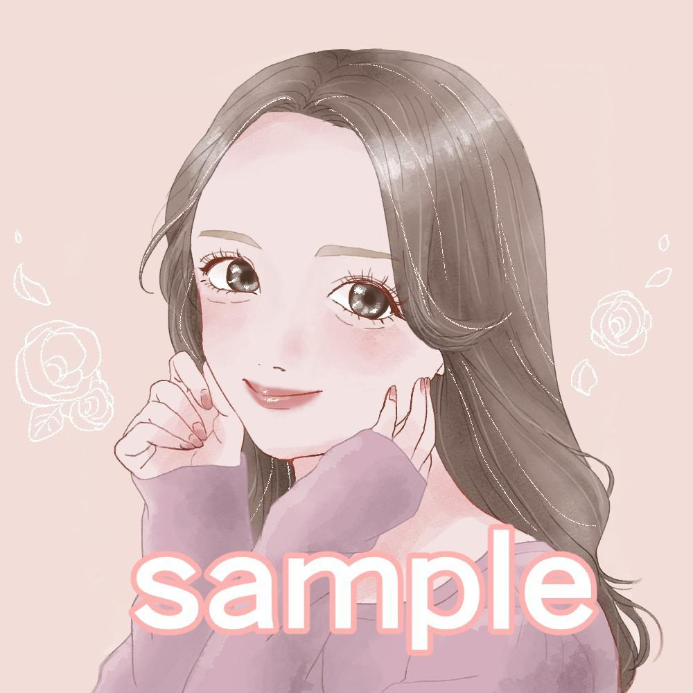 上品で可愛い♥アイコン用イラスト描きます ゆるふわ、上品、ガーリーなイラストをお探しの方へ イメージ1
