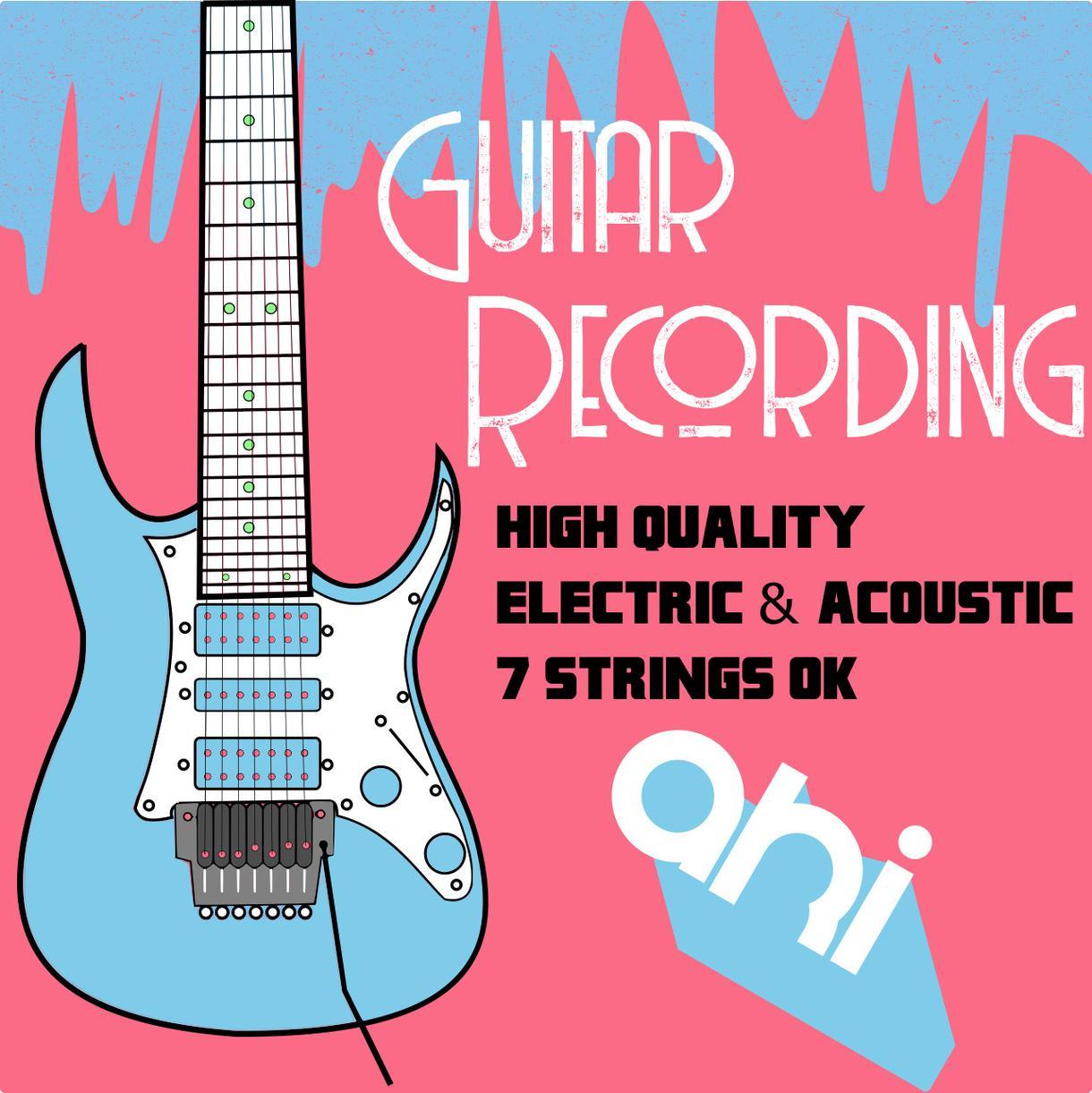 ギター録音(エレキ・アコースティック)を承ります 超プロ級のギター演奏をあなたへ 7弦ギター可