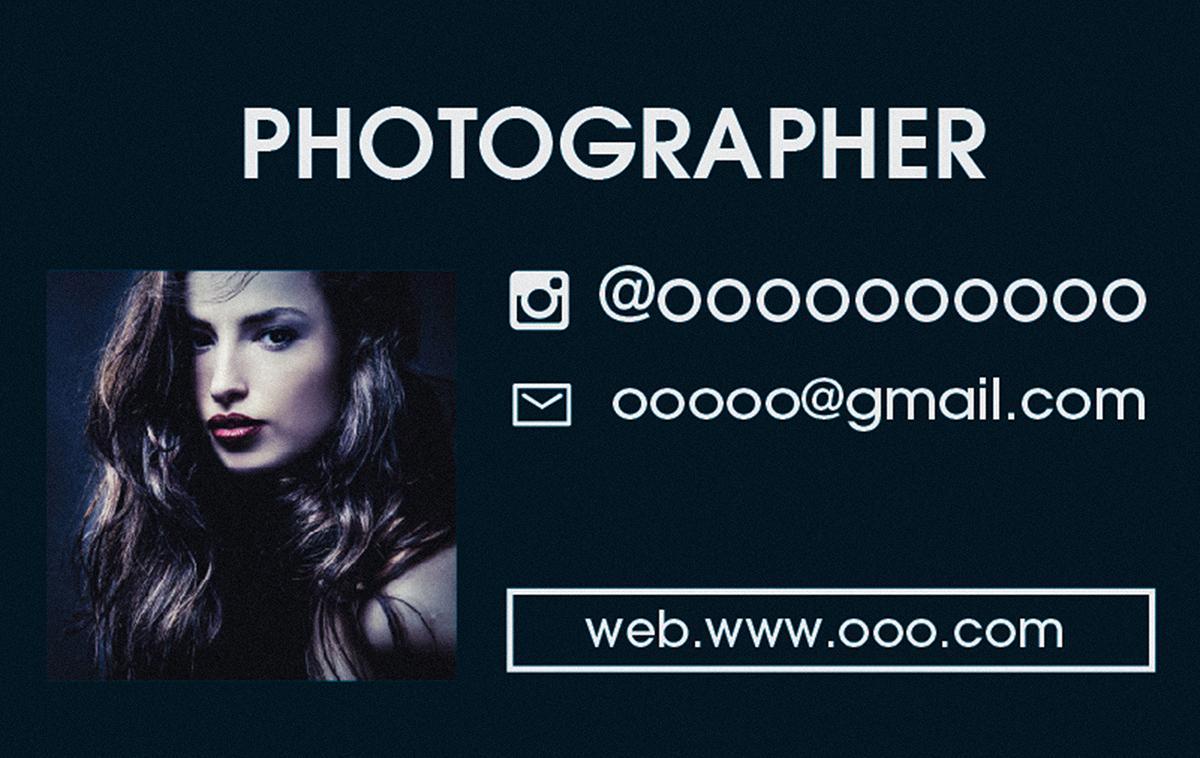 あなたのお写真を名刺、SHOPカードにします みんなと同じはもう嫌だ!オリジナルの個性をアピールしよう!!