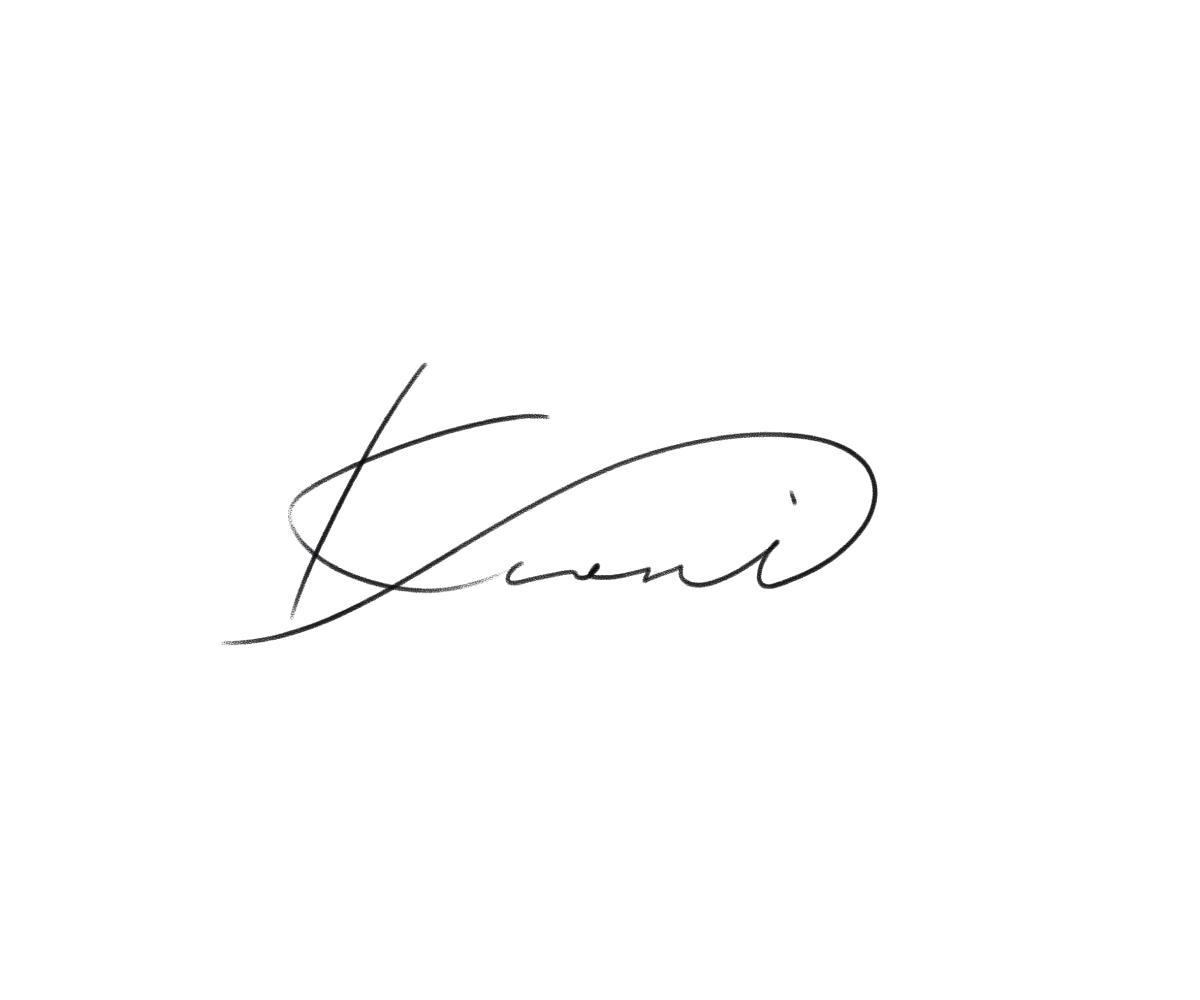 流線が綺麗な筆記体サインを作成します プロのペン習字講師が、丁寧にお書き致します