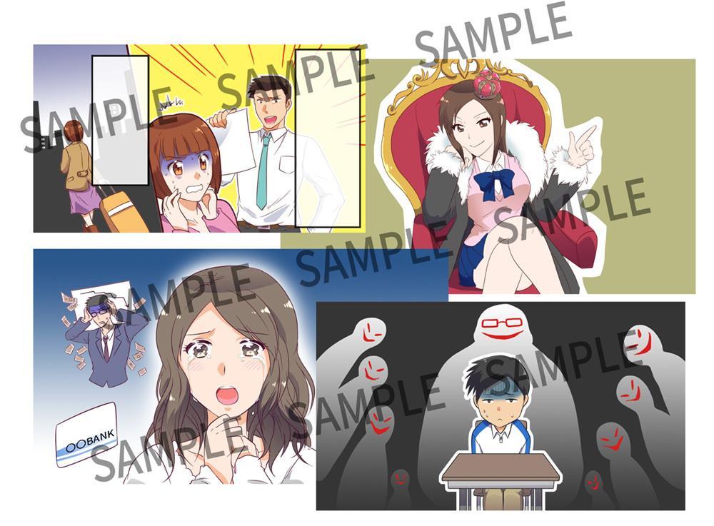 Youtube用イラストをセットで描きます アニメ調イラストをまとめて10枚納品します! イメージ1