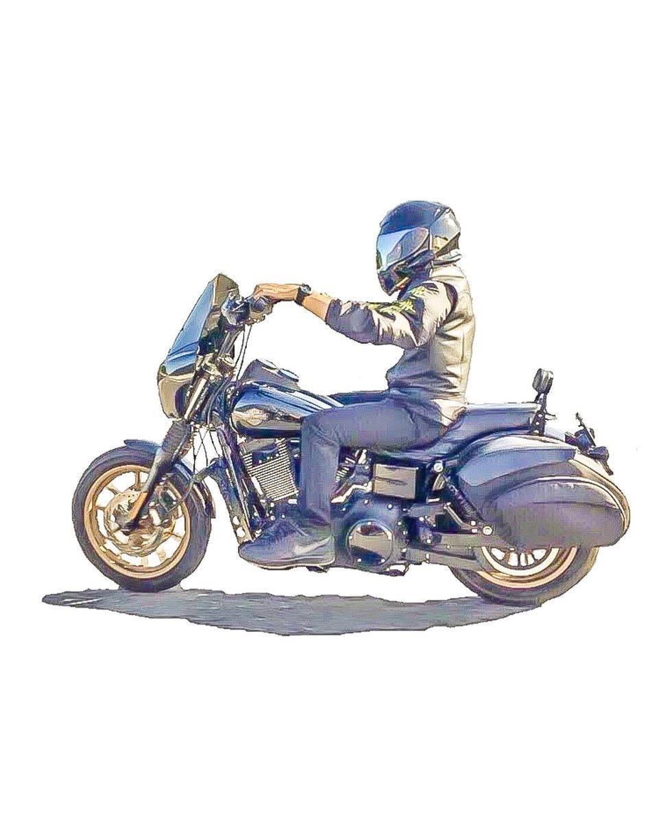 バイク乗りの画像をお洒落なミニキャラ化加工します アメリカで流行り!SNSでの目立ち度グンとアップします!