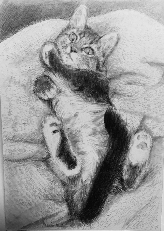 あなたの大切な人やペットを鉛筆画で描きます 【原品郵送OK】大切な人やペットをモノクロアート作品に
