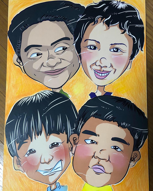 デジタル似顔絵描きます 貴方のイメージをポップな似顔絵で表現致します!