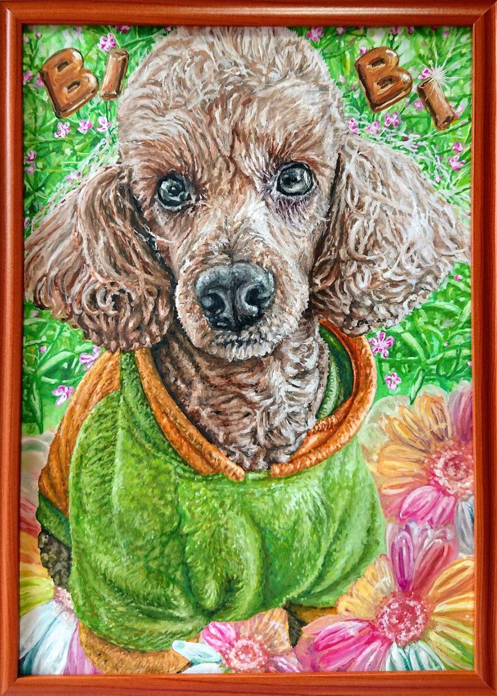 犬・猫のペットの絵を描きます お部屋に飾りたい方にオススメです!家族や友人へプレゼントにも