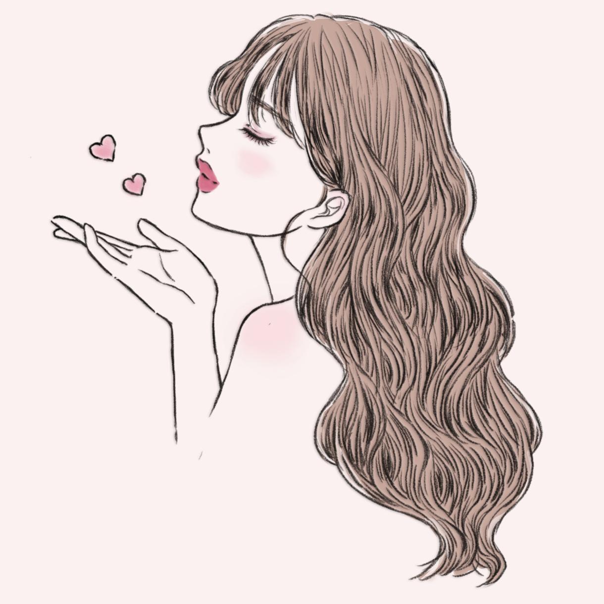 女性らしい絵柄でイラスト描きます 早くて安い!特徴を捉えたイラストで差をつけよう