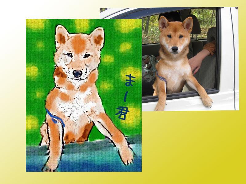 ペット写真から油絵風似顔絵描きます