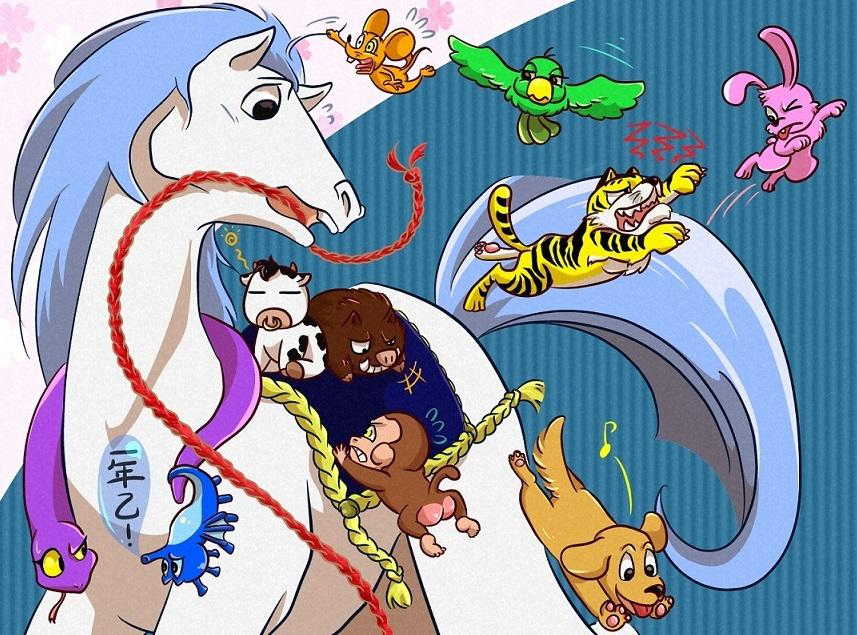 可愛い、POPなペット・動物の絵を描きます POP、ふんわり、可愛い、漫画っぽい動物絵は如何ですか