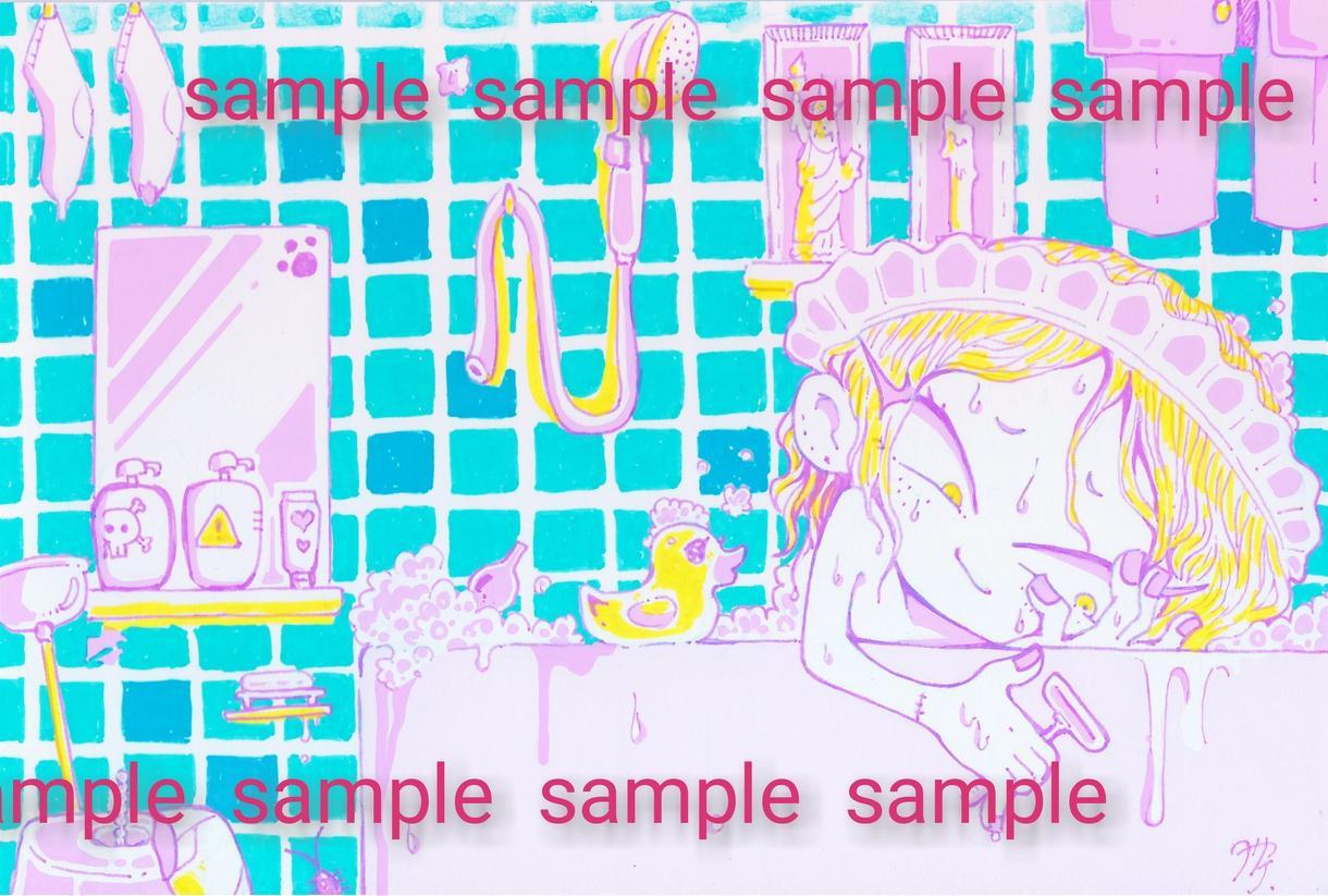 カラフルでポップなキャラクターイラストを描きます ちょっぴりトゲのある毒々しいカラフルなキャラクターイラスト