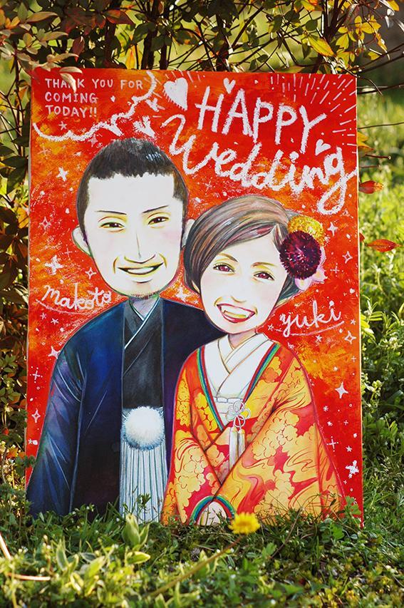 結婚式ウェルカムボードを描きます ゲストを迎えるウェルカムボードを華やかに!
