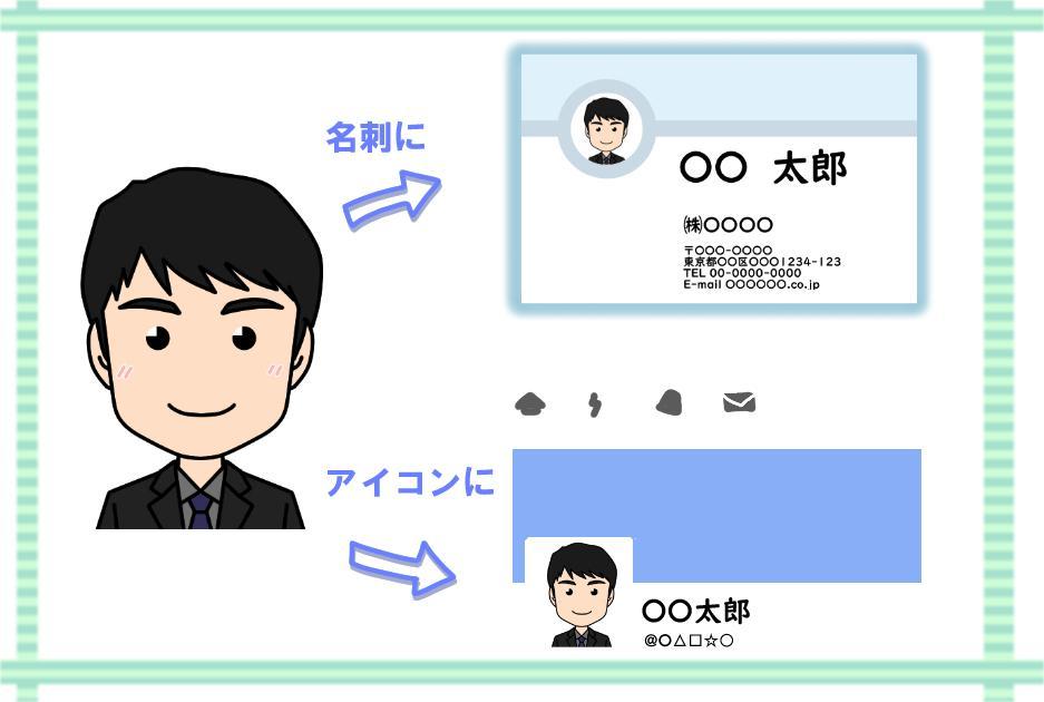 すごくシンプルな似顔絵お描きいたします SNS用のアイコンや名刺にお使いいただけます。