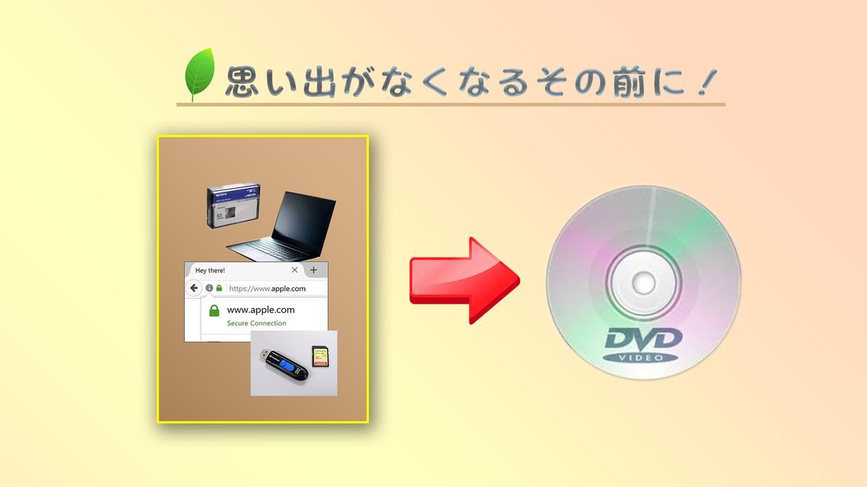 思い出をDVD化します 保存したい映像!壊れる前に!DVDへ!