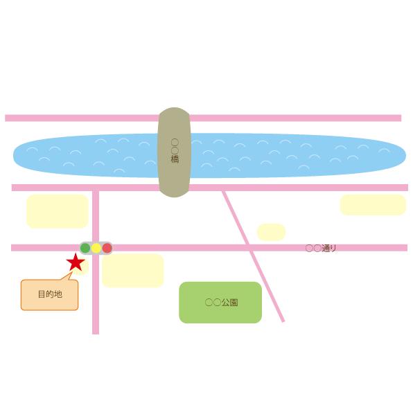 イメージに合った地図をお作りします シンプル、可愛い、おしゃれ等イメージに合った地図を作ります!