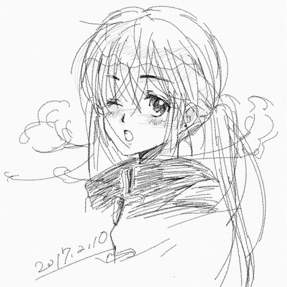 【えんぴつ描き風】一コマイラスト描きます!