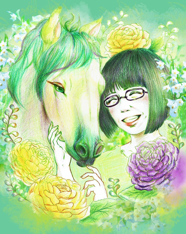 花、動物と一緒に あなただけのイラスト描きます 好きなモチーフを選んでぎゅっと1つのアイコンに!