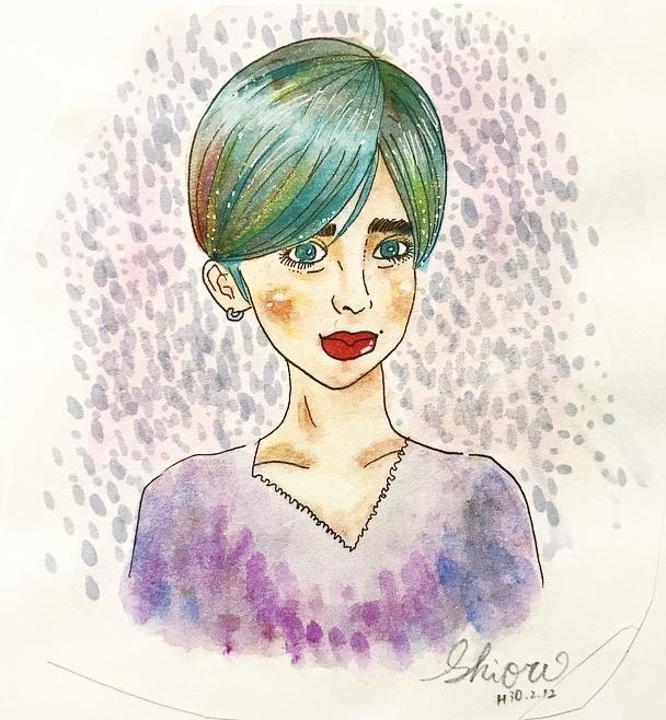 水彩画の手描き似顔絵イラスト描きます 海外風オリジナル似顔絵描きます