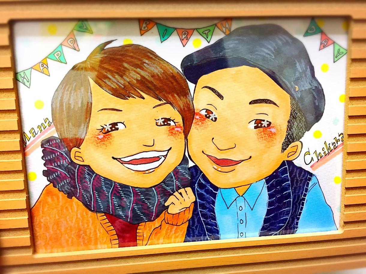 可愛くておしゃれな似顔絵描きます 友達や恋人との記念日などに世界にひとつのプレゼント