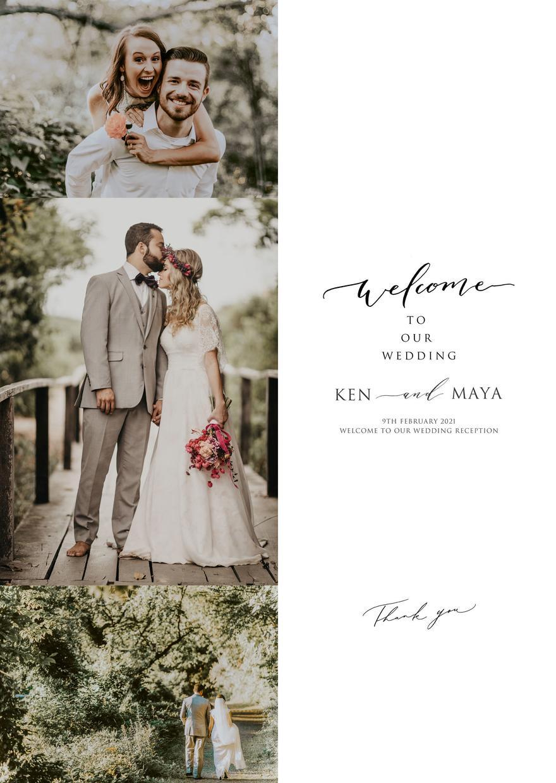 写真加工付き!結婚式ウェルカムボード作成します 選べる!データ渡しorポスター印刷。お気に入り写真ボード