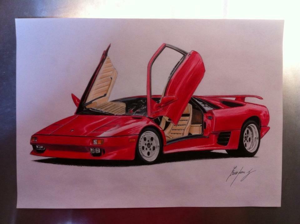 御愛車や好きな車をリアルに描きます 友人や御自分へのプレゼントにオススメ!