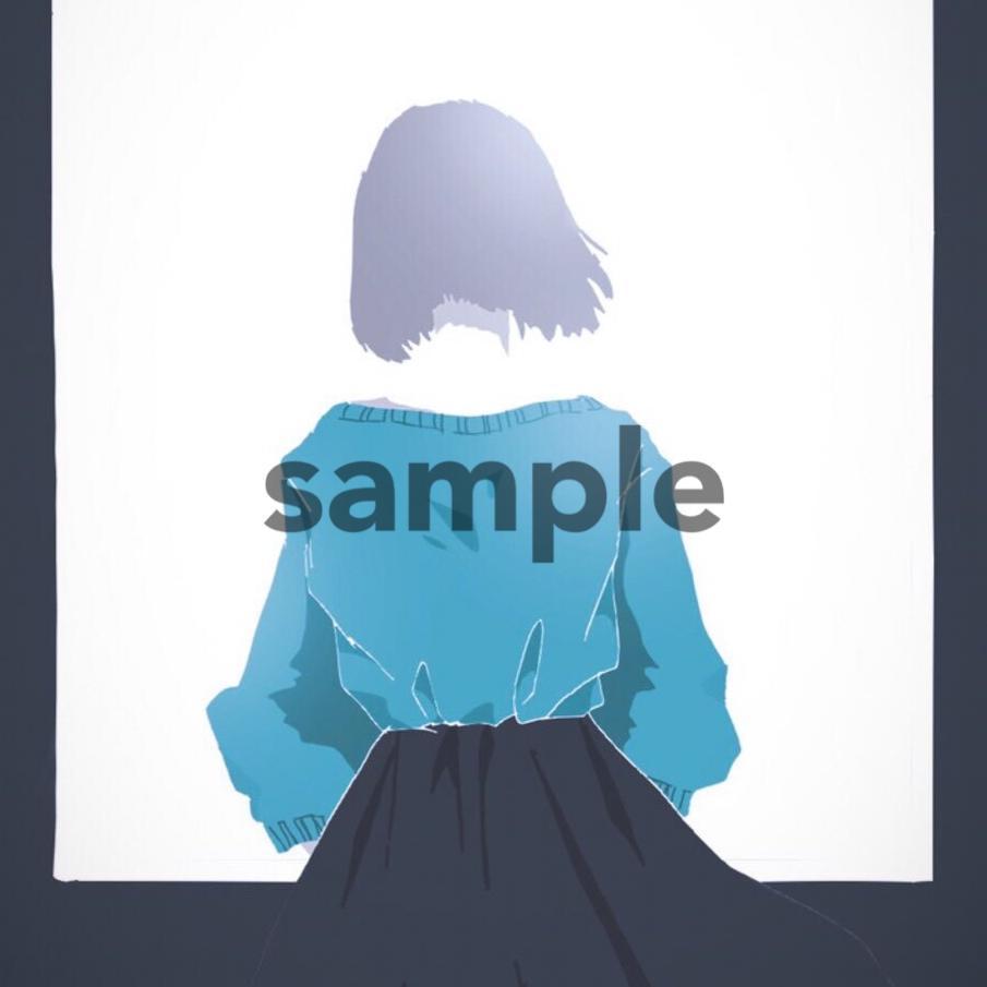女子の後ろ姿イラスト描きます おしゃれなイラストを求めている方向け