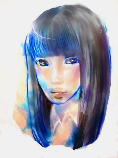 透明感のあるデジタル似顔絵お描きいたします 大切なアイコンなどにぴったり!!