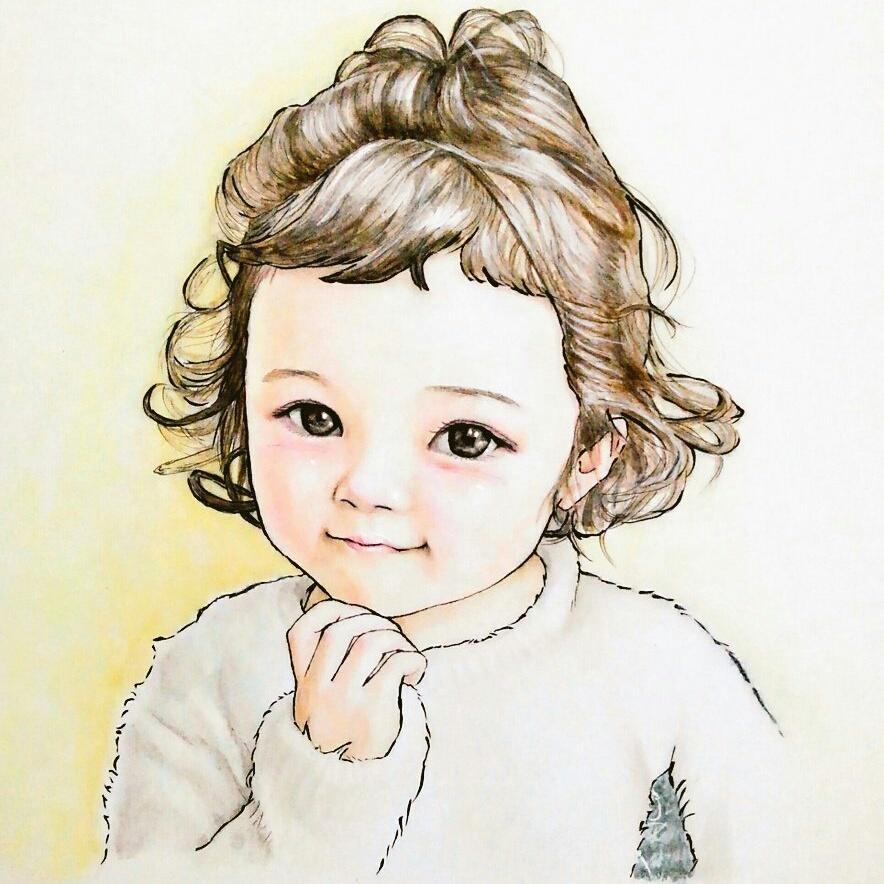 癒しと可愛さを込めた似顔絵承ります 可愛い似顔絵はお部屋の飾り、思い出、プレゼントなどに最適