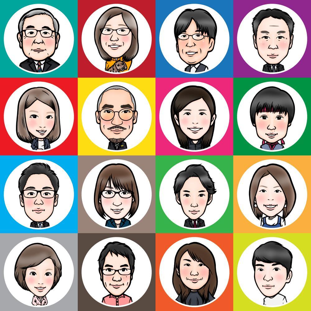 似顔絵を描きます snsアイコン、LINEスタンプ、名刺などに活用ください!