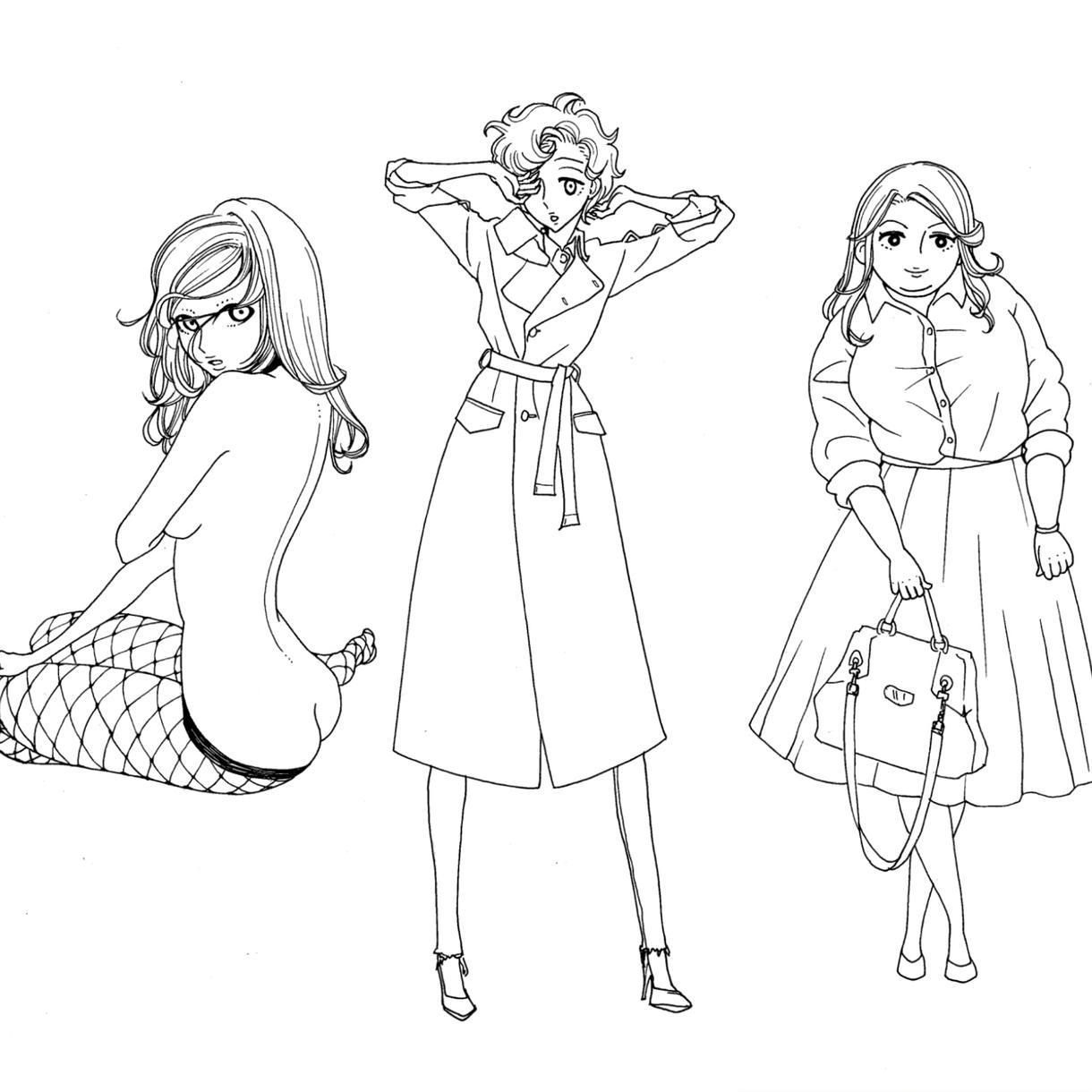 SNSアイコン・イラスト等お描き致します おしゃれ・ファッション好きな方におすすめ☆