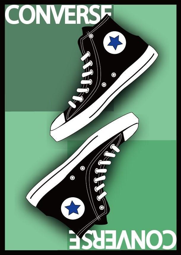ポスターのようなイラスト描きます 既存のものをデフォルメしたイラスト(靴など)を主に描きます。 イメージ1