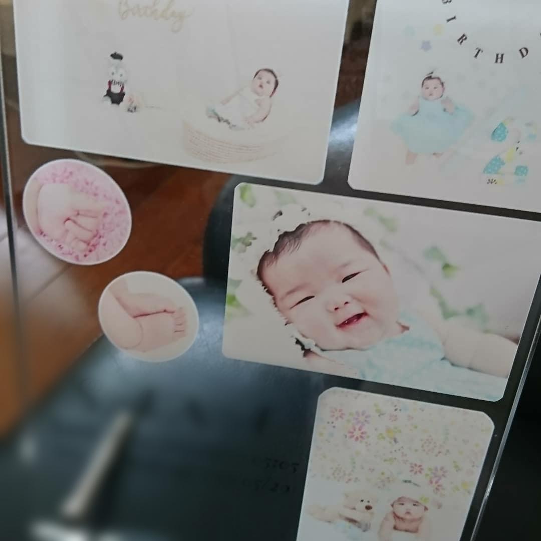 お子様の記念にアクリルフォトフレーム作成します お写真を頂きこちらでデザインしたフォトフレーム作成致します