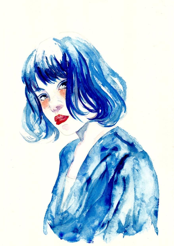 水彩画で人物(女性限定)描きます 思い出に、プレゼントに、トプ画に!! イメージ1