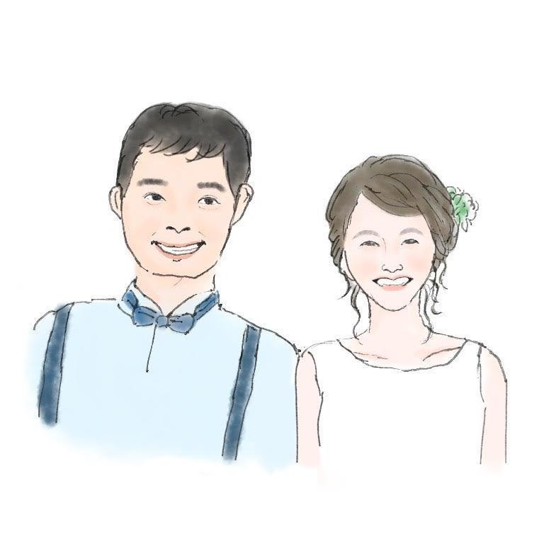 修正無制限♩ふんわり水彩の似顔絵お描きします 結婚・ご家族の記念日などプレゼントにもおすすめです イメージ1