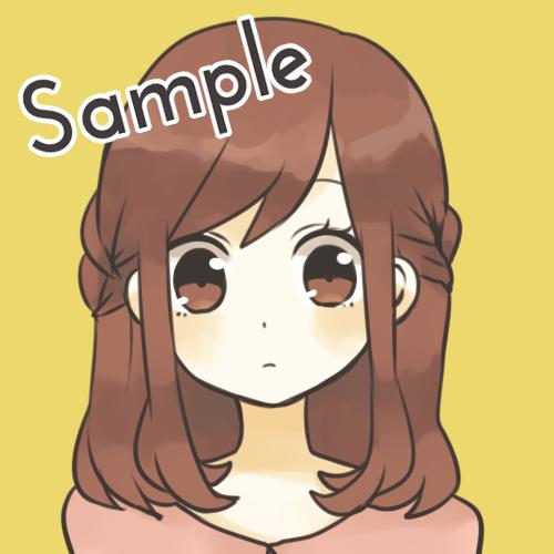 SNS等で使えるアイコン作成いたします 女の子のイラスト描きます◎自分だけのアイコンが欲しい方へ