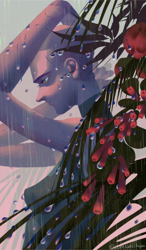 アンニュイで印象的な人物イラスト描きます 繊細な感情表現、憂いのある人物像が欲しい方へ。