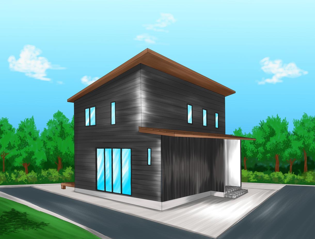 数日で対応可能!あたたかな住宅イラスト承ります オープンハウスの広告やHP用など、住宅イラスト作成致します