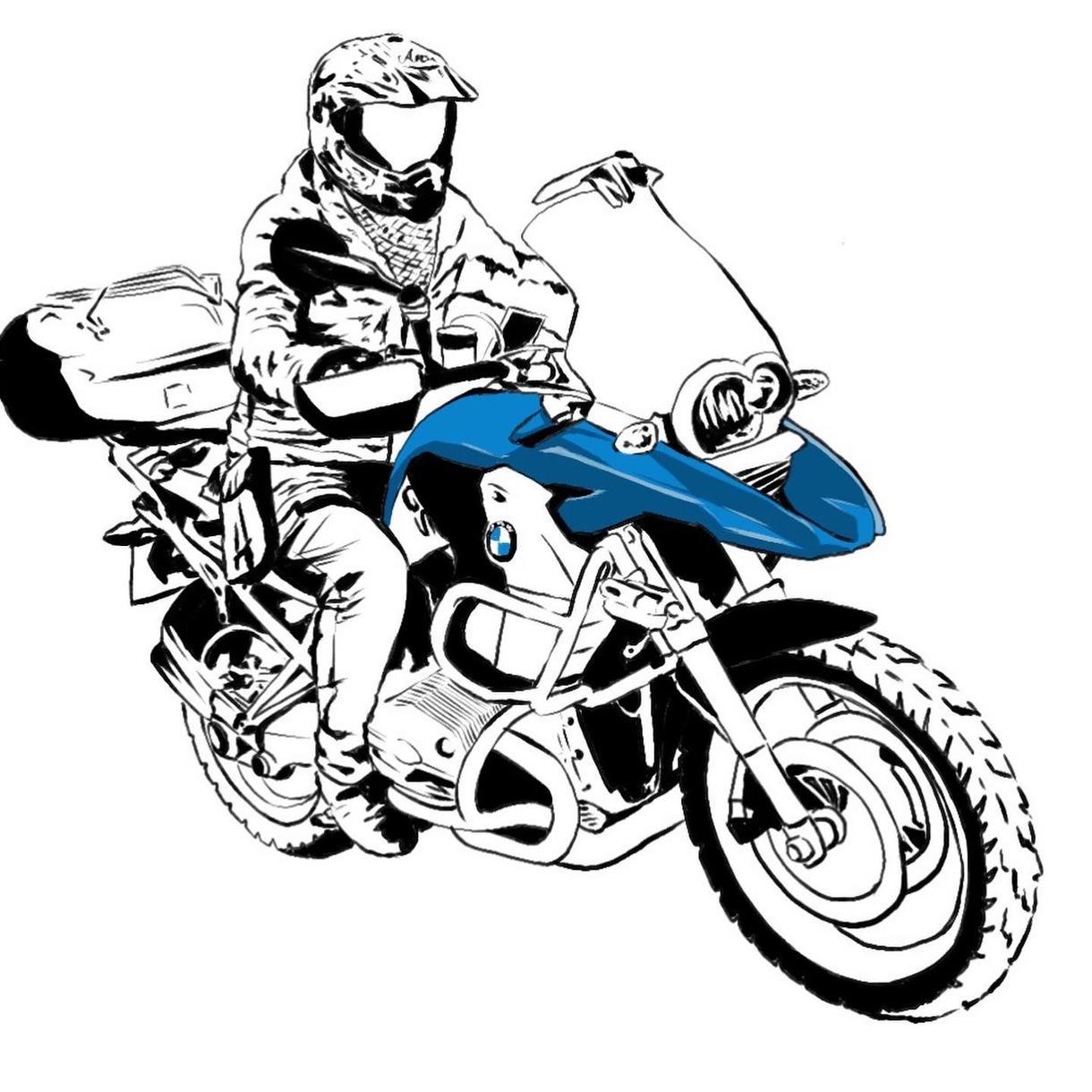 ライダーさんのイラストをバイク付きで描きます 写真をいただけたらデジタル手描きでイラストを描きます!