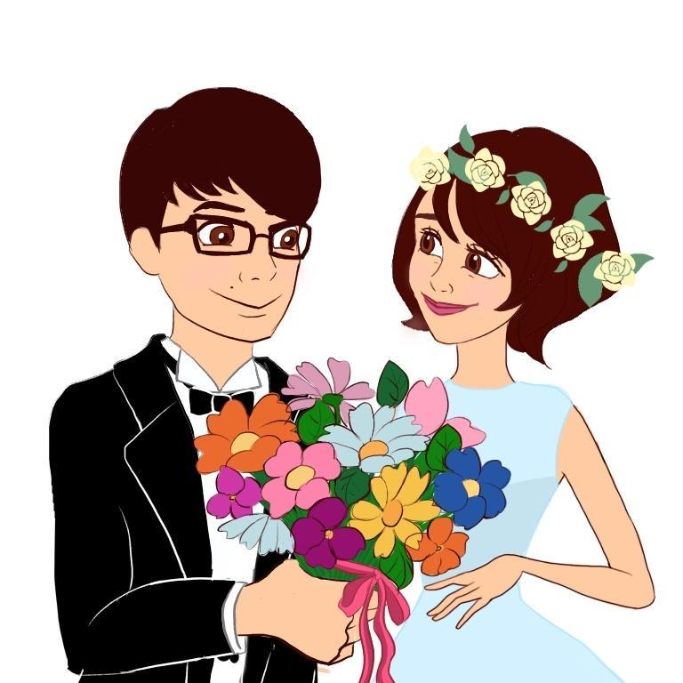 プリンセス風に似顔絵をお描きします お誕生日やご結婚祝い、記念日のお祝い、SNSのアイコン用に