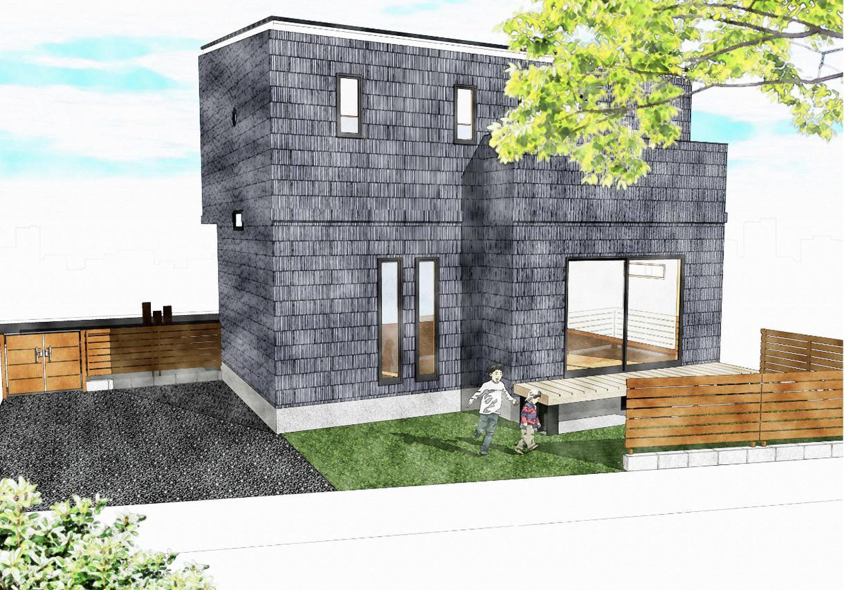 戸建住宅の外観パース図を作成いたします プレゼン成功率UPに貢献致します! イメージ1