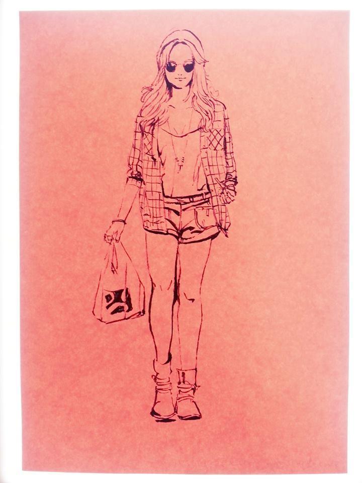 【今なら無料】写真をもとに筆ペンで白黒の絵を描きます!