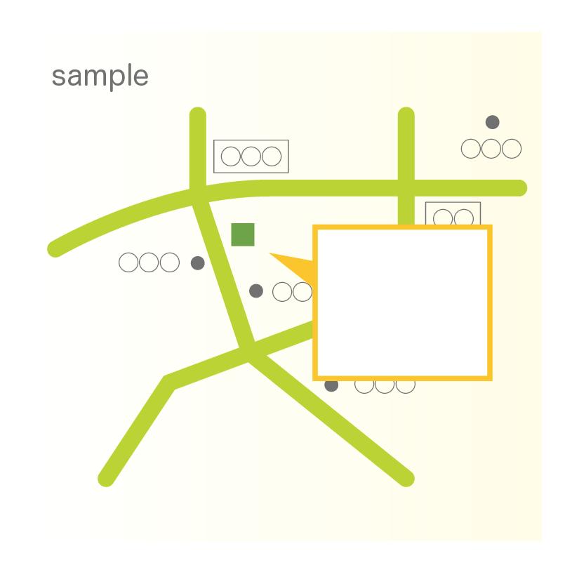 手書きのラフから地図作ります 手書きのラフから地図作ります!aiデータ納品可能!