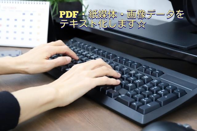 PDF・紙媒体・画像データをテキスト化します ☆WordやExcelに変換するのを代行します! イメージ1