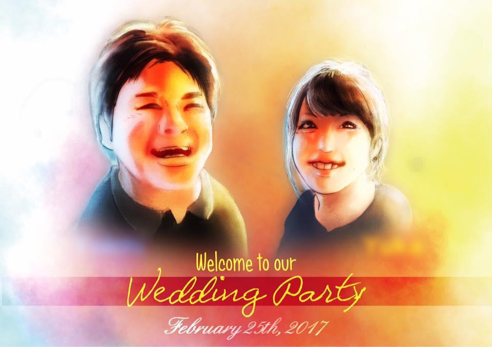 結婚式のウェルカムボード作ります そっくりでスタイリッシュな似顔絵が売りです!