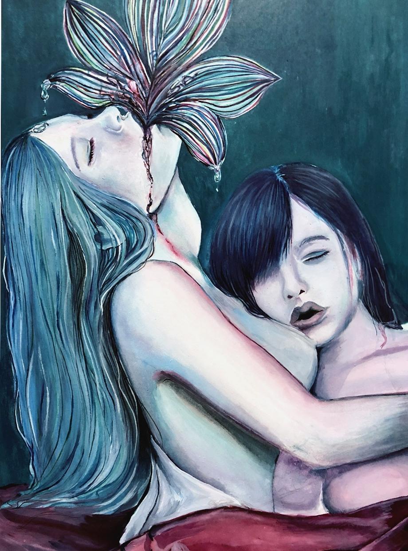 赤、青、緑を中心に、水彩イラストを描きます 人物画、宇宙、、動物、植物など様々なイラストを私だけの色で。