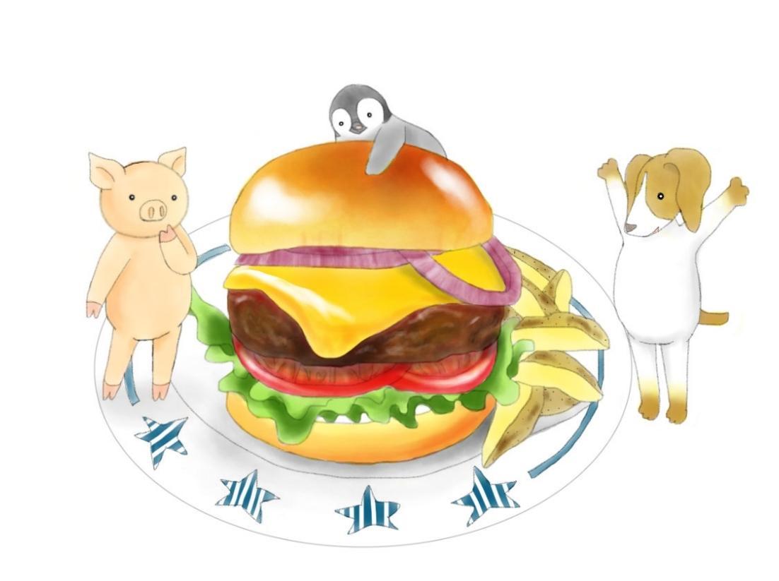 商用利用可。食べ物のイラストを描きます 用途自由、メニューや商品パッケージなどにも