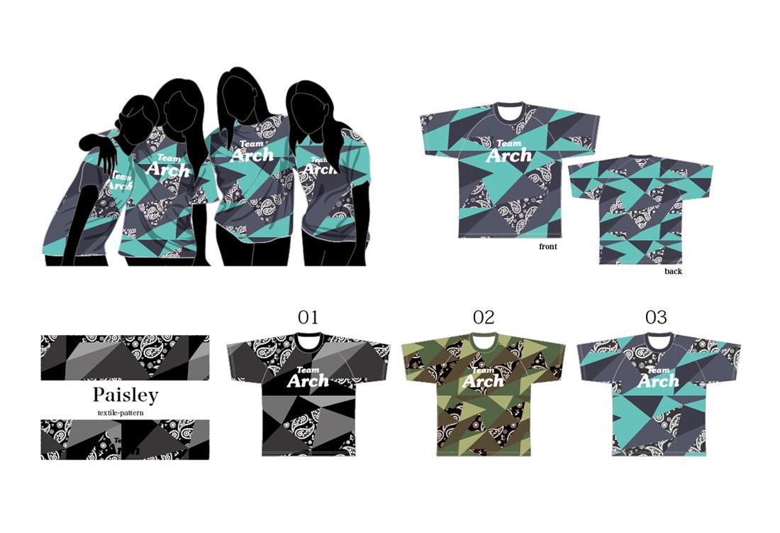 チームTシャツをデザインします ペイズリー柄(ベースデザイン) イメージ1