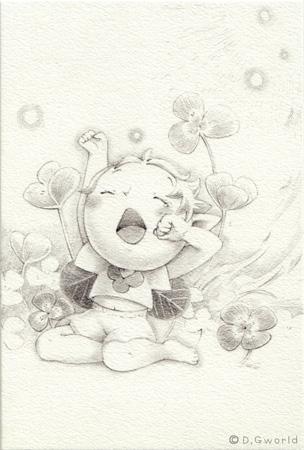 【贈り物やお守りに】*あなたの誕生花の妖精アートをお描きします*