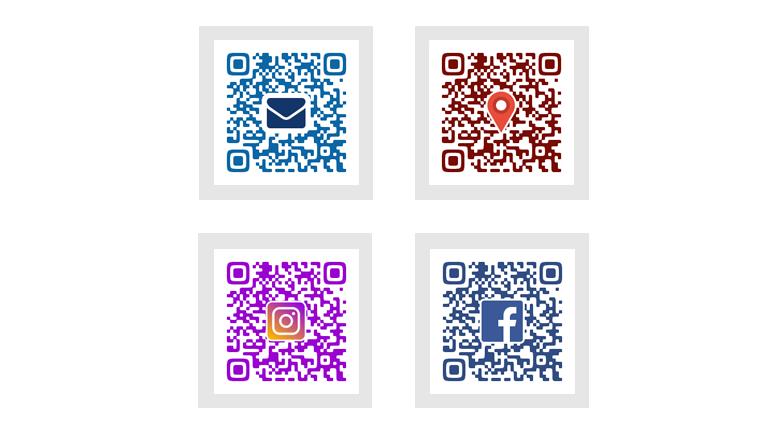 ロゴ他・オリジナルなデザインQRコード制作します カラーを用いてデザイン性に富んだオリジナルなQRコードを作成