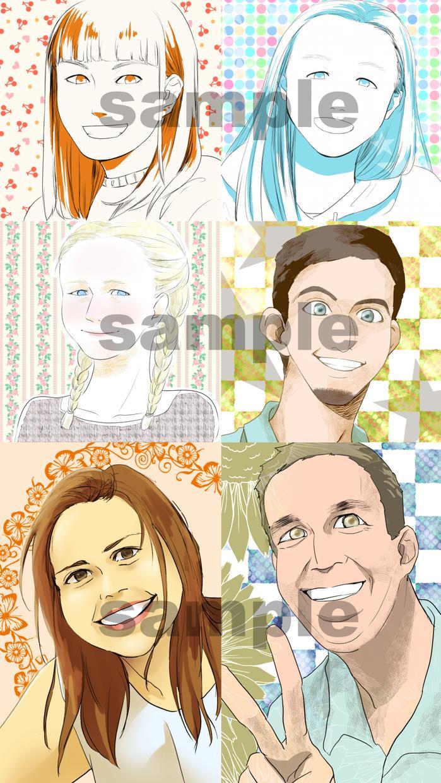似顔絵、イラスト、マンガ描きます アイコン、コミックエッセイ等々あなたのイメージを形にします