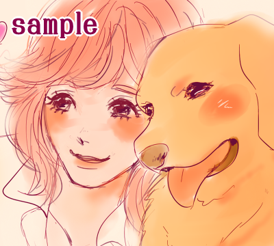 ペットの似顔絵お描きします 暖かい色合いとかわいい雰囲気でペットの似顔絵をお描きします♪