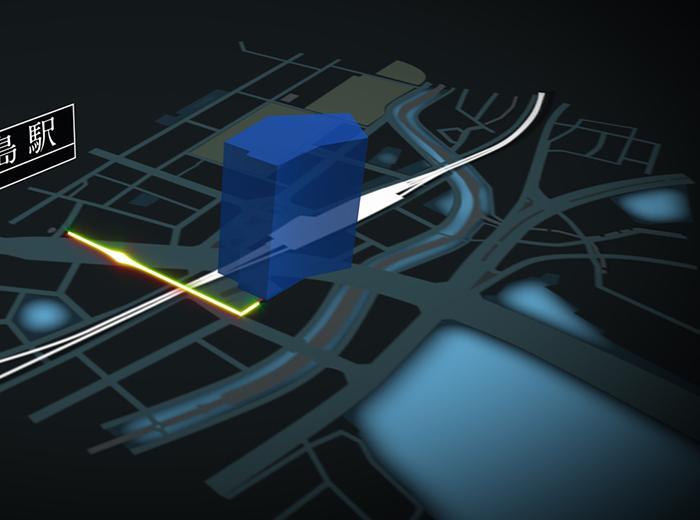 今なら「動く3D地図」1万円【条件付き】で作ります ホームページなどでお使いの地図を、動画に変換するサービスです